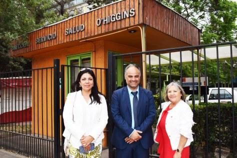 Solange Vallejos, Miguel Yañez y Patricia Aranis