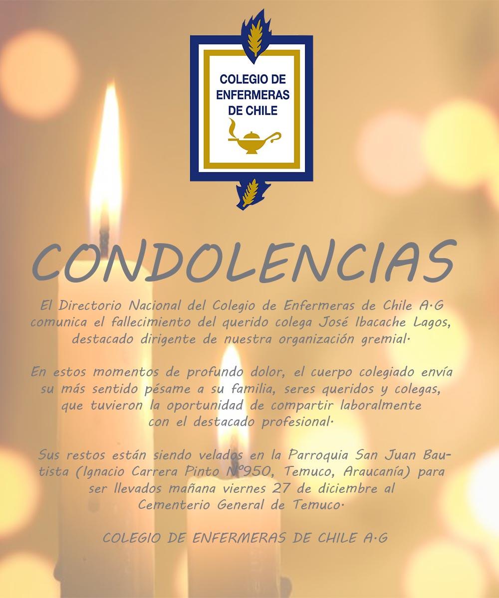 Condolencias José Ibacache